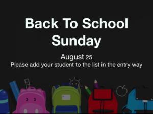Next week is back to school week!