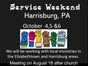 Service weekend