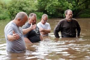 Leadership team at the baptism
